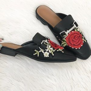 Shoes - Rose Backless Loafers